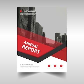 Rode creatieve jaarverslag boekomslag sjabloon