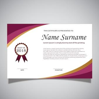 Rode en witte certificaatskaart