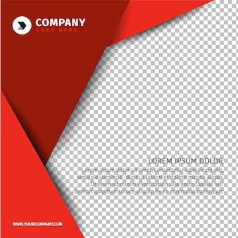 Rode zakelijke brochure sjabloon