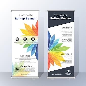 Roll up template ontwerp
