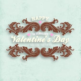 Romantische valentijn, grafisch ornament