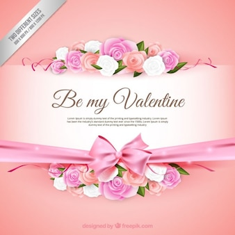 Romantische Valentijnskaart achtergrond