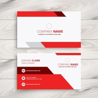 Rood en wit modern adreskaartje