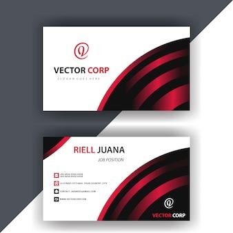 Rood en zwart visitekaartje