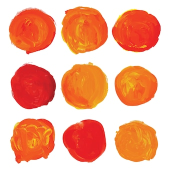 Roundes oranje verf staints
