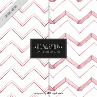 Roze zigzag patroon