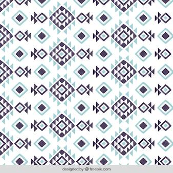 Ruitpatroon en driehoeken in etnische stijl