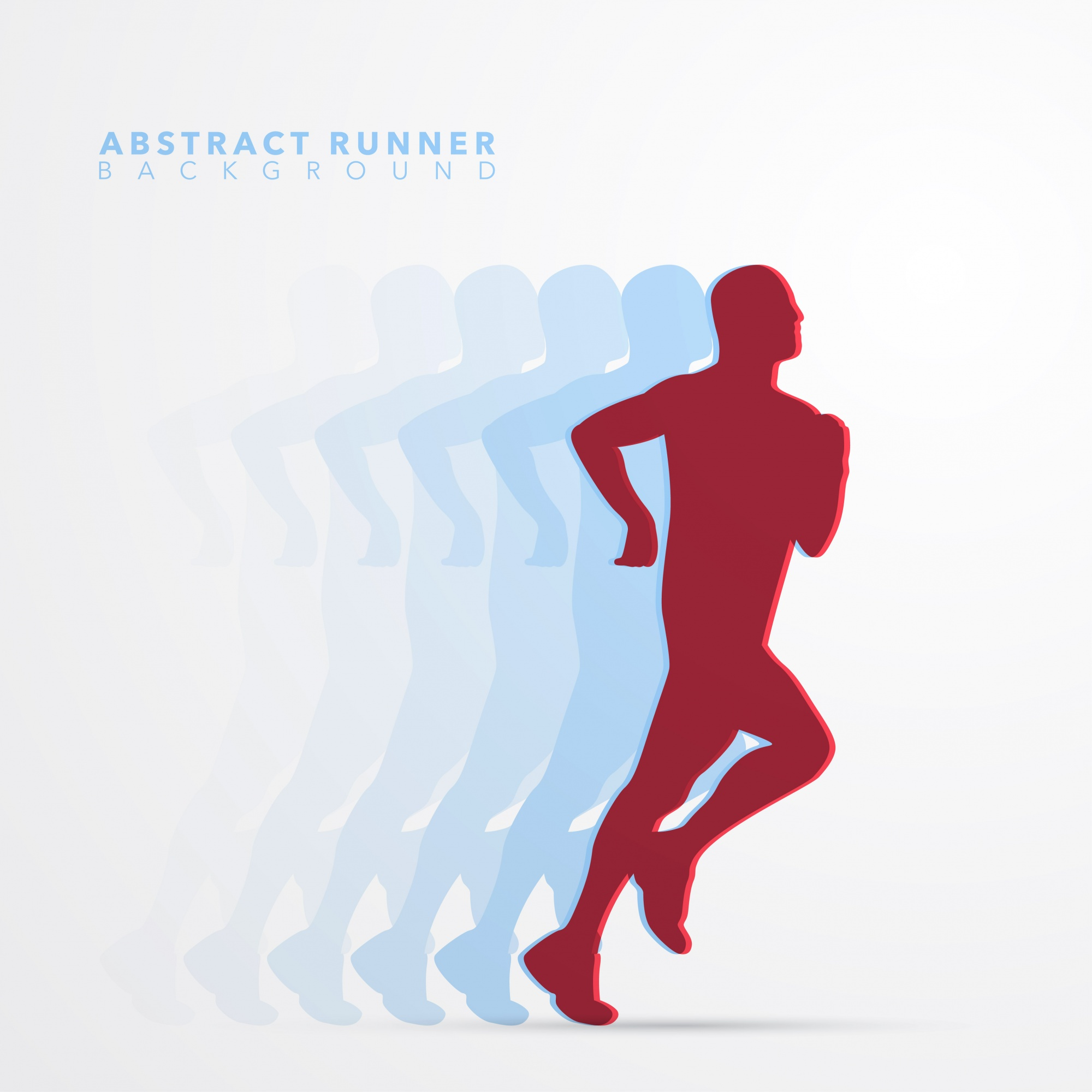 Runner Abstract Silhouette