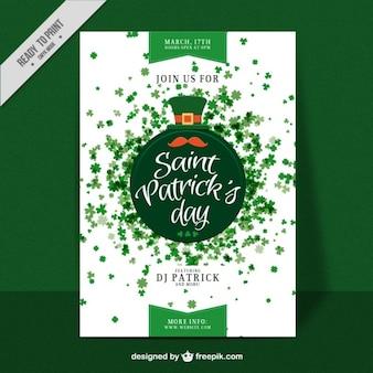 Saint Patrick dag klavers poster