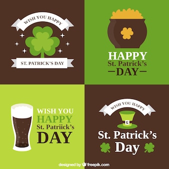 Saint Patrick Day Cards Collection
