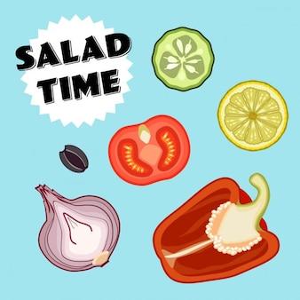 Salade tijd ingrediënten