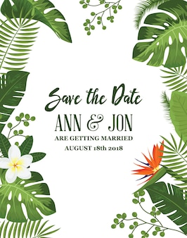 Save the Date Card Achtergrond
