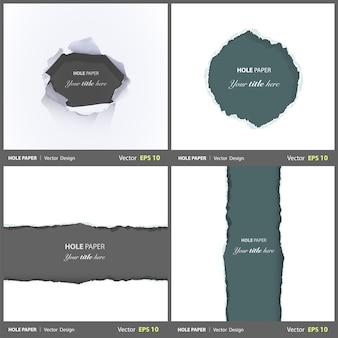 Schade collectie randblad set