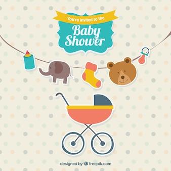 Schattige baby showeruitnodiging