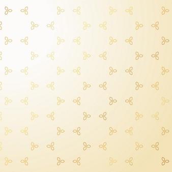 Schattige kleine gouden bloemendecoratie patroon