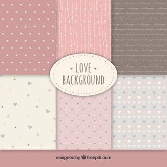 Schattige liefde achtergronden collectie