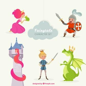 Schattige sprookjesfiguren