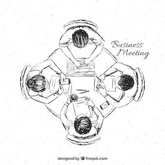 Schets van zakelijke bijeenkomst