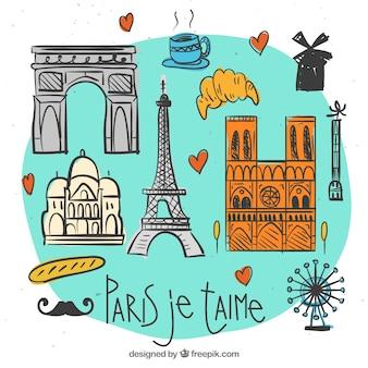 Schetsen Paris je t'aime