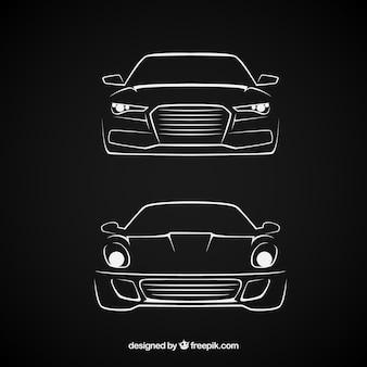 Schetsmatig auto