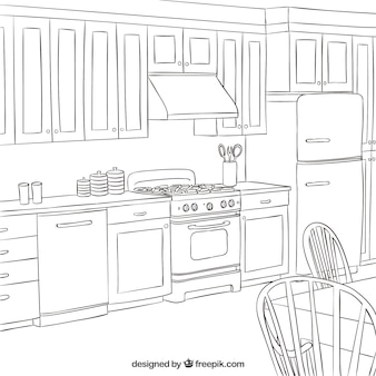 Schetsmatig keuken
