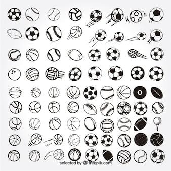 Schetsmatig sport ballen