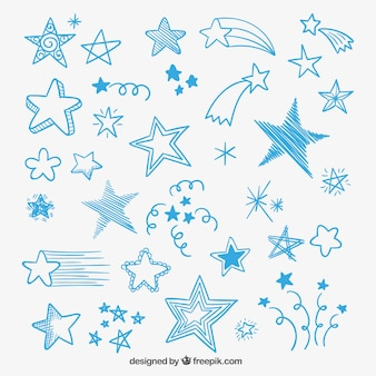 Schetsmatig sterren