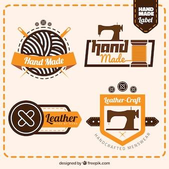Selectie van de badges voor het naaien