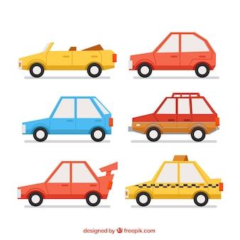 Selectie van de fantastische auto's in plat design