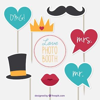 Selectie van decoratieve elementen voor foto's