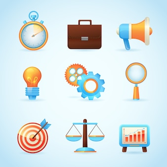SEO internet marketing iconen