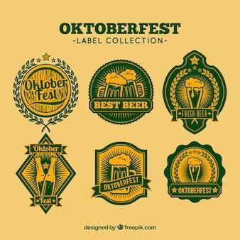 Set bier Oktoberfest stickers