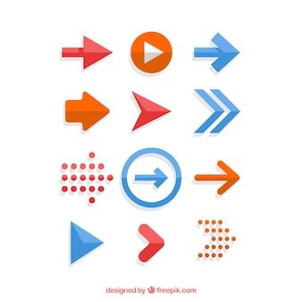 Set pijlen in platte ontwerp
