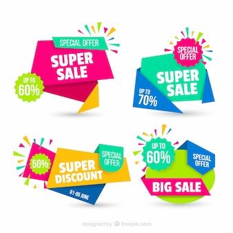 Set van abstracte verkoop banners