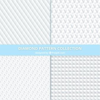 Set van diamant patronen