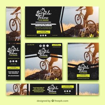 Set van fiets banners
