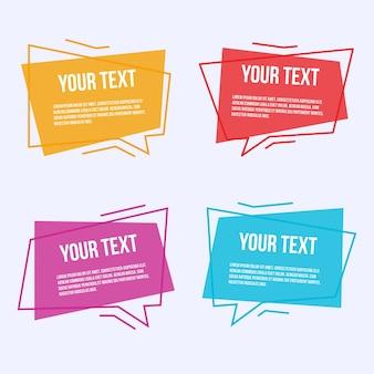 Set van gekleurde labels