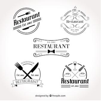 Set van retro restaurant logo