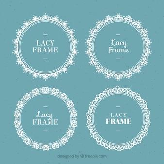 Set van ronde kant frames