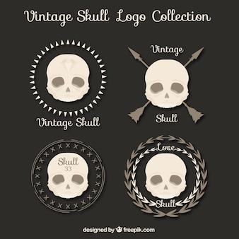 Set van schedels vintage emblemen