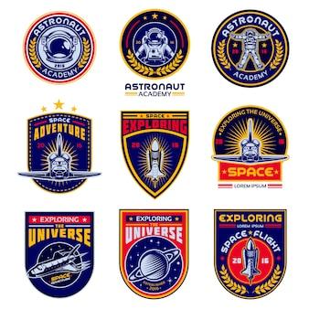 Set van vector iconen ruimte.