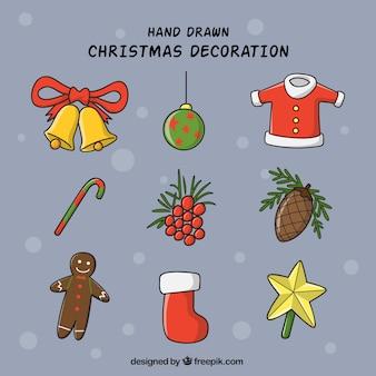Set van verschillende elementen voor kerst