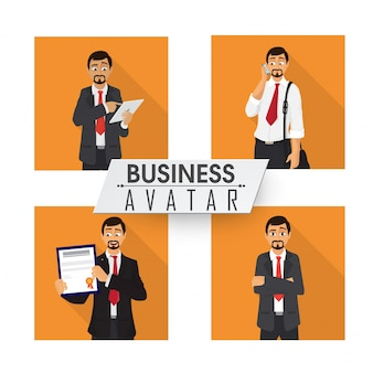 Set van vier Business Avatar.