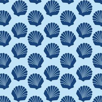 Shells vector patroon achtergrond