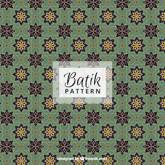 Sier bloemen patroon in stijl batik