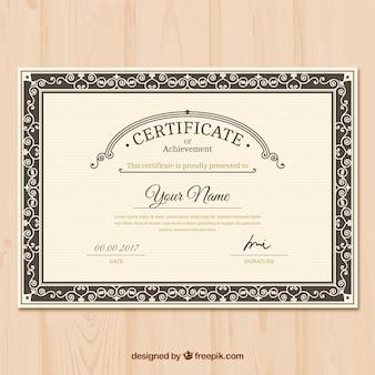 Sier certificaat van prestatie