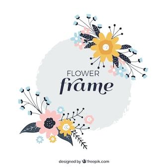 Sier floral frame