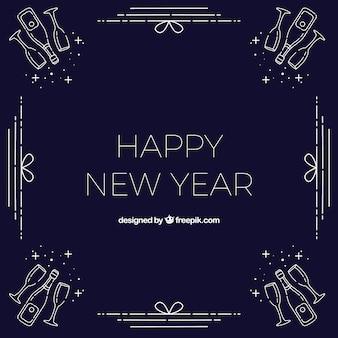Sier nieuwe jaar achtergrond