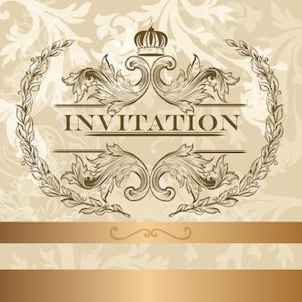 Sier uitnodiging ontwerp