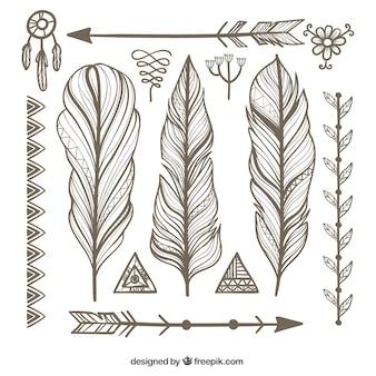 Sier veren met andere etnische voorwerpen